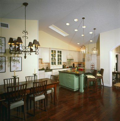 traditional kitchen remodel and dining room