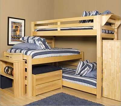 three level bunk bed | a plus design reference