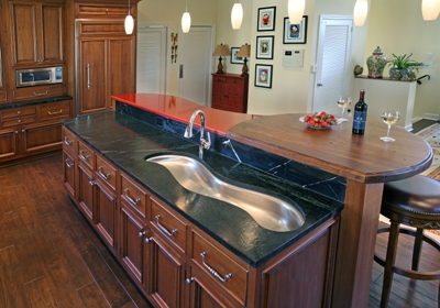 Captivating ISLAND USING THREE DIFFERENT COUNTERTOP MATERIAL