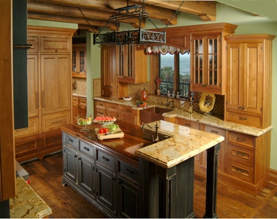 Raised countertop for seating at island